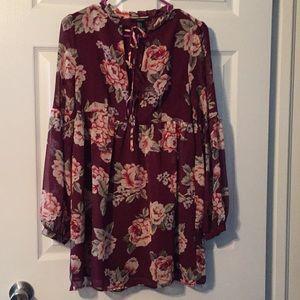 Forever 21 floral boho tunic/dress